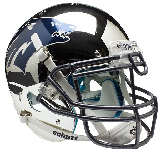 Nevada Wolfpack Authentic College XP Football Helmet Schutt <B>Chrome Silver</B>