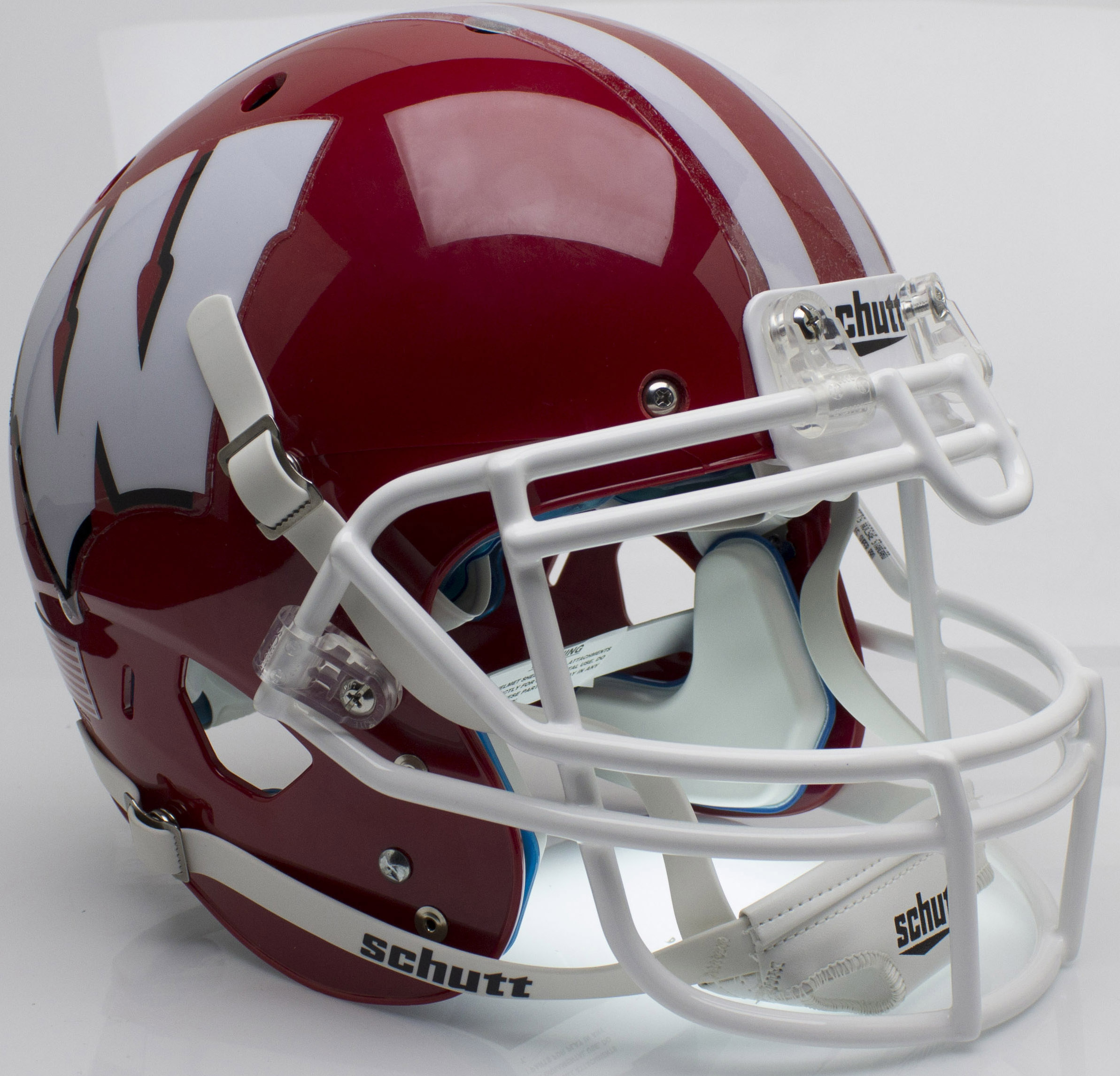 Wisconsin Badgers Authentic College XP Football Helmet Schutt <B>Scarlet</B>