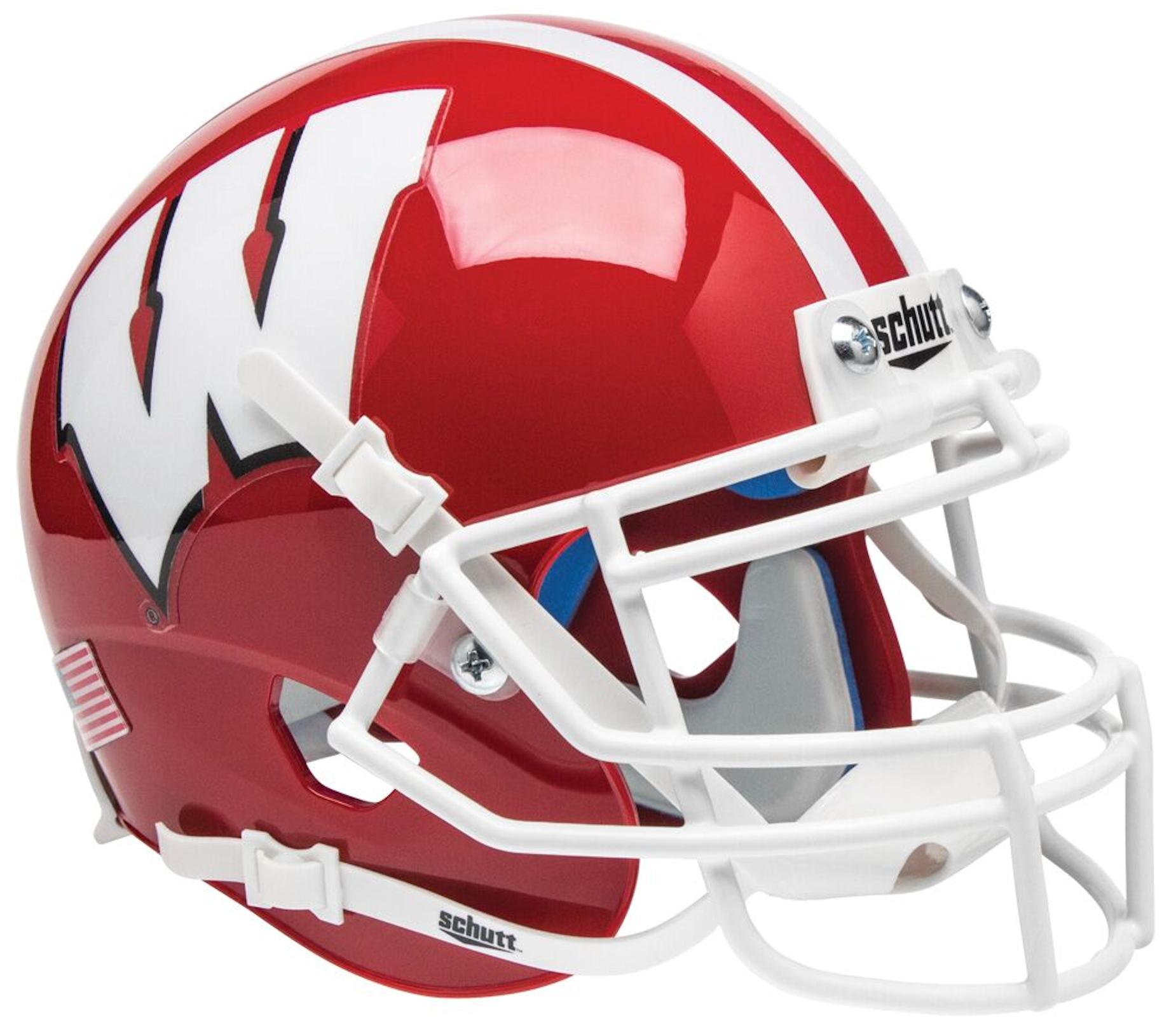 Wisconsin Badgers Mini XP Authentic Helmet Schutt <B>Scarlet</B>