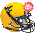 Helmets, Mini Helmets: West Virginia Mountaineers Mini XP Authentic Helmet Schutt <B>Matte Gold</B...