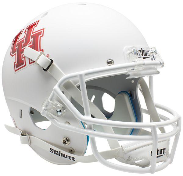 Houston Cougars Full XP Replica Football Helmet Schutt <B>Matte White</B>