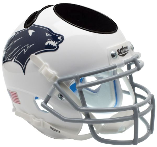 Nevada Wolfpack Miniature Football Helmet Desk Caddy <B>Dark Decal</B>