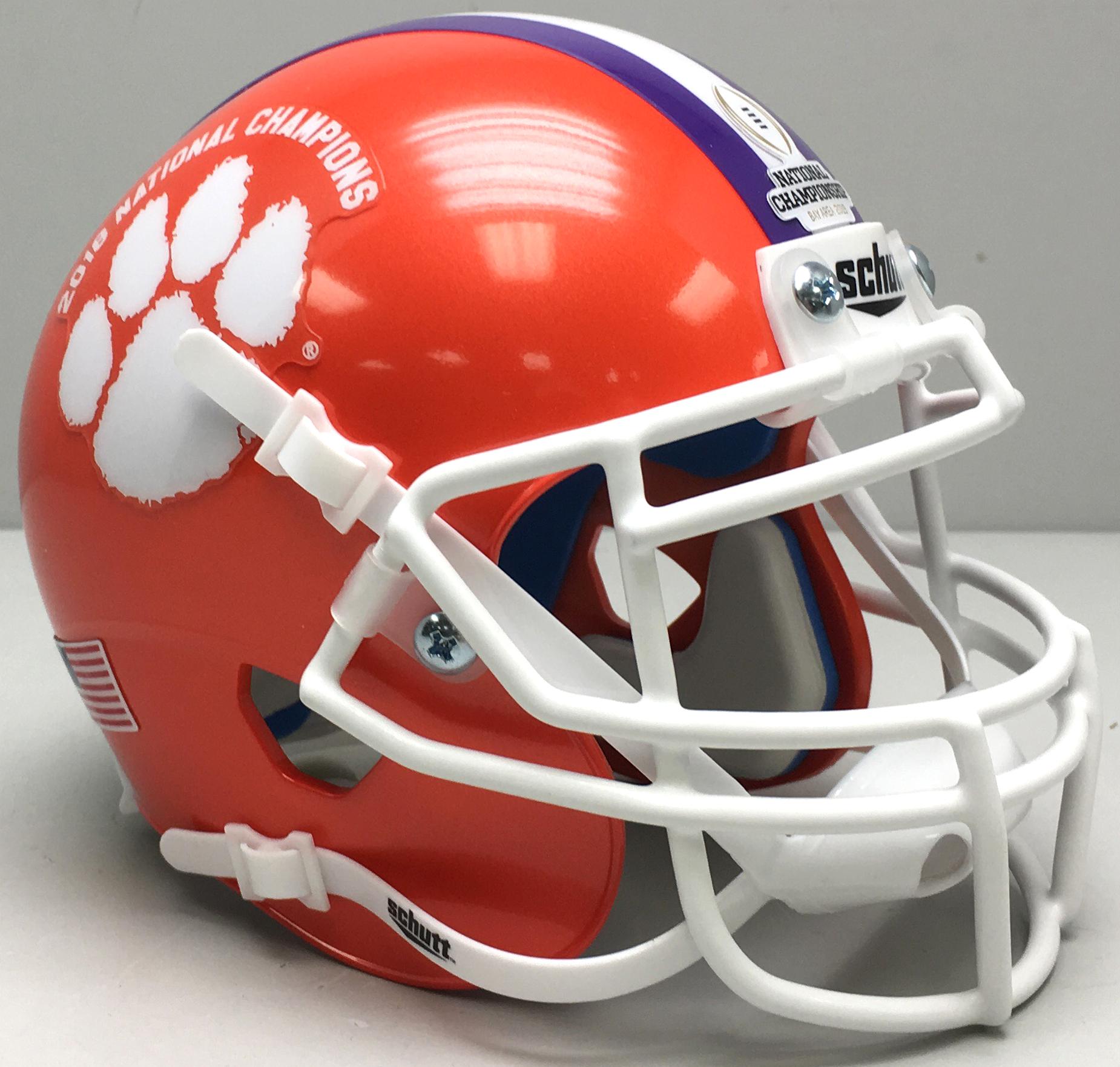 Clemson Tigers Authentic College XP Football Helmet Schutt <B>2018 National Champions</B>