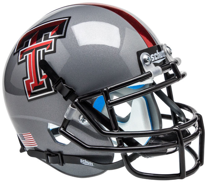 Texas Tech Red Raiders Mini XP Authentic Helmet Schutt <B>Gray 16</B>