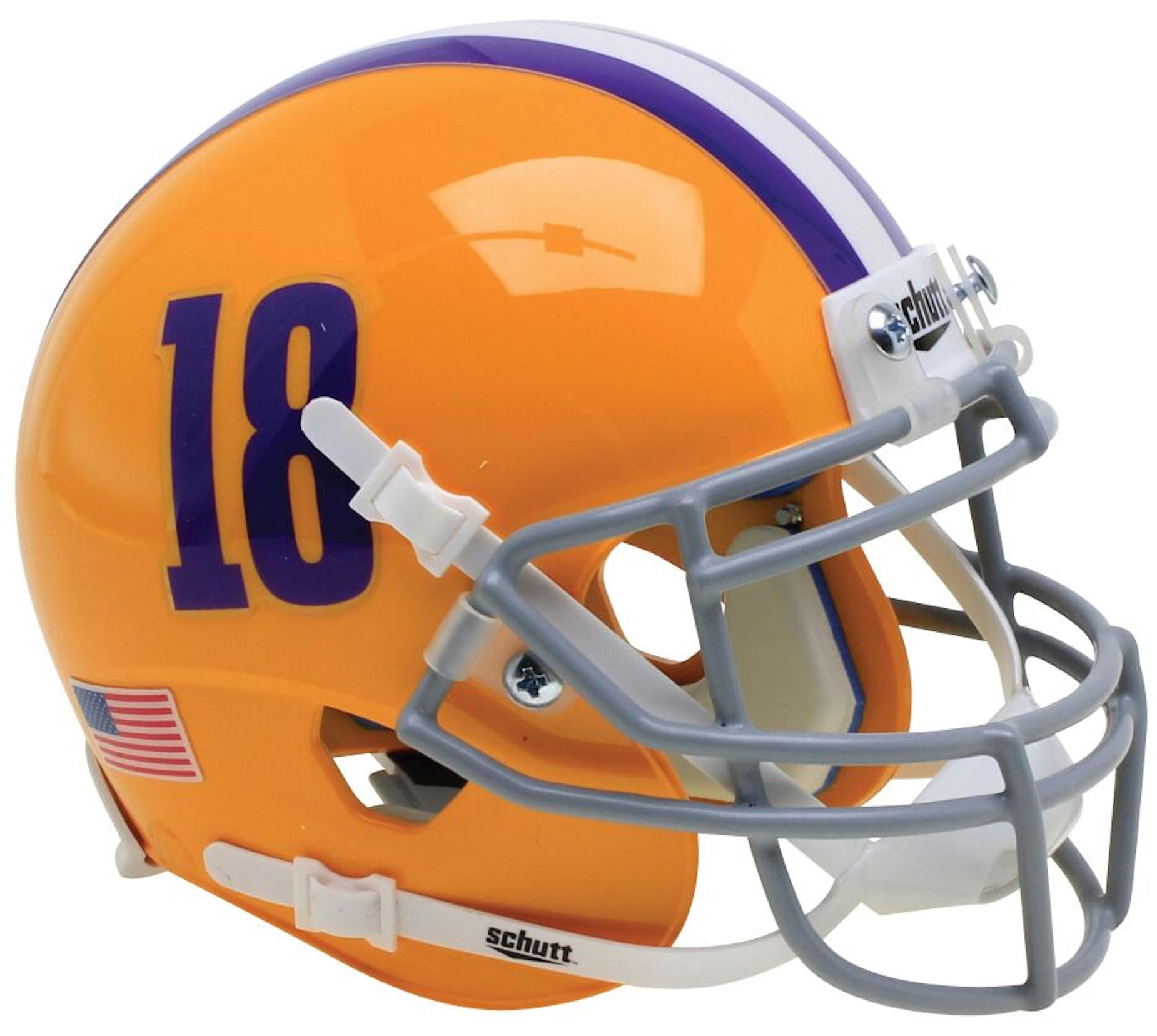 LSU Tigers Mini XP Authentic Helmet Schutt <B>18</B>