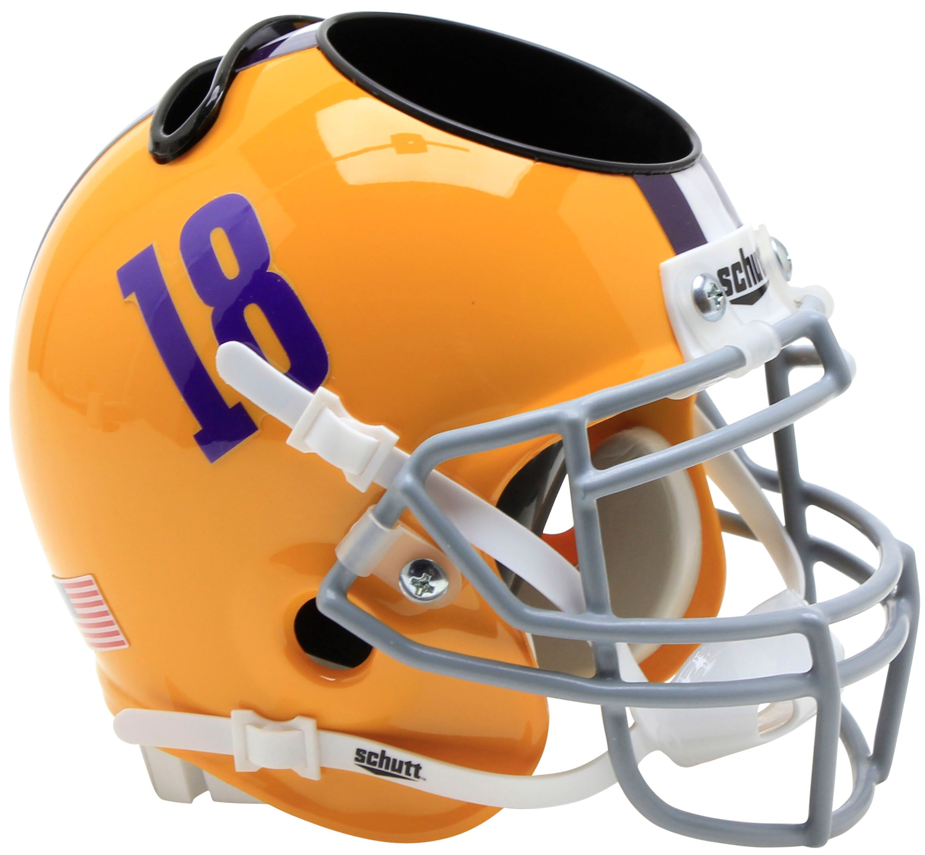 LSU Tigers Miniature Football Helmet Desk Caddy <B>18</B>