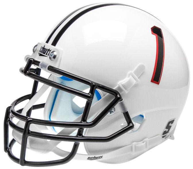 Texas Tech Red Raiders Mini XP Authentic Helmet Schutt <B>Pride White</B>
