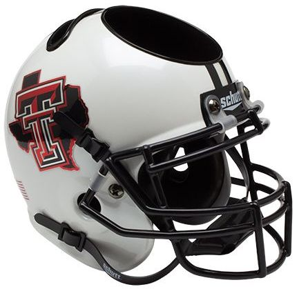 Texas Tech Red Raiders Miniature Football Helmet Desk Caddy <B>Pride White</B>