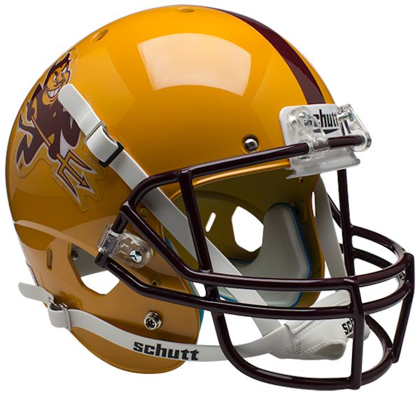 Arizona State Sun Devils Full XP Replica Football Helmet Schutt <B>Sparky</B>