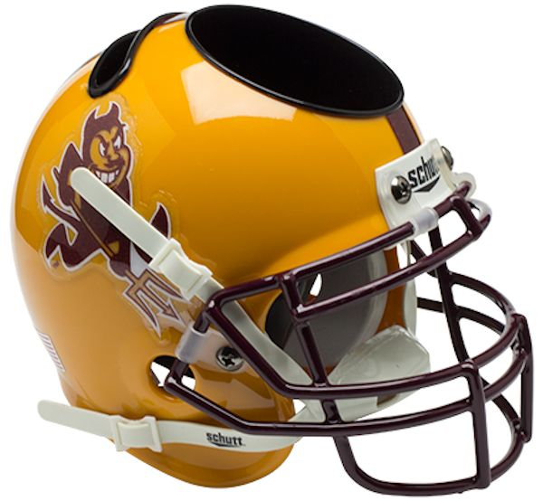 Arizona State Sun Devils Miniature Football Helmet Desk Caddy <B>Sparky</B>