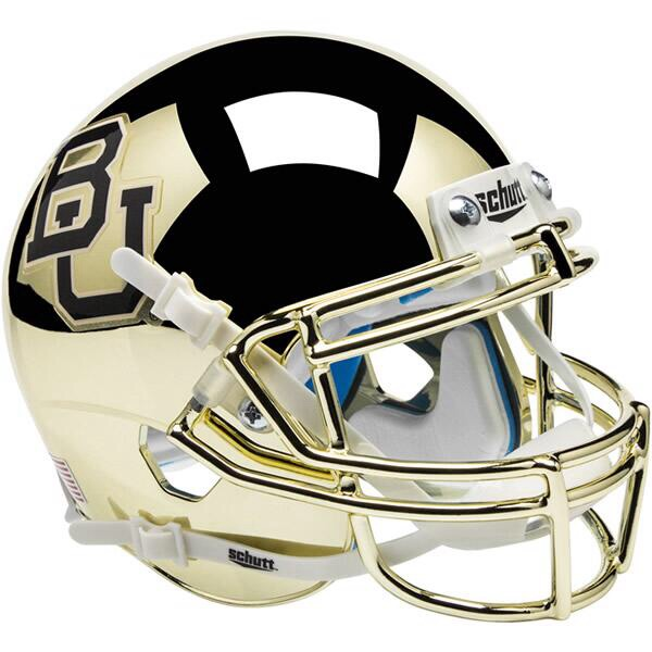 Baylor Bears Authentic College XP Football Helmet Schutt <B>Chrome</B>