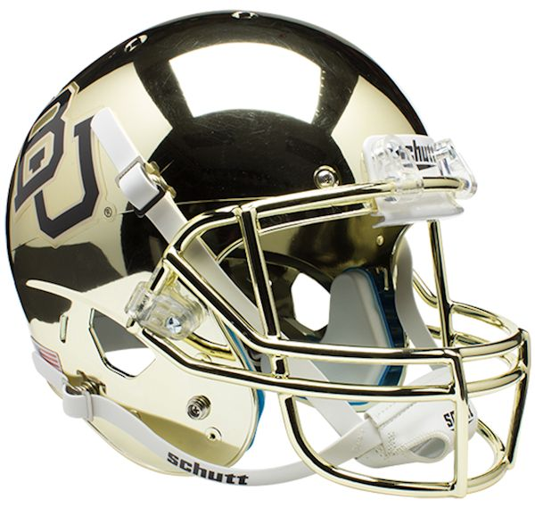 Baylor Bears Full XP Replica Football Helmet Schutt <B>Chrome</B>
