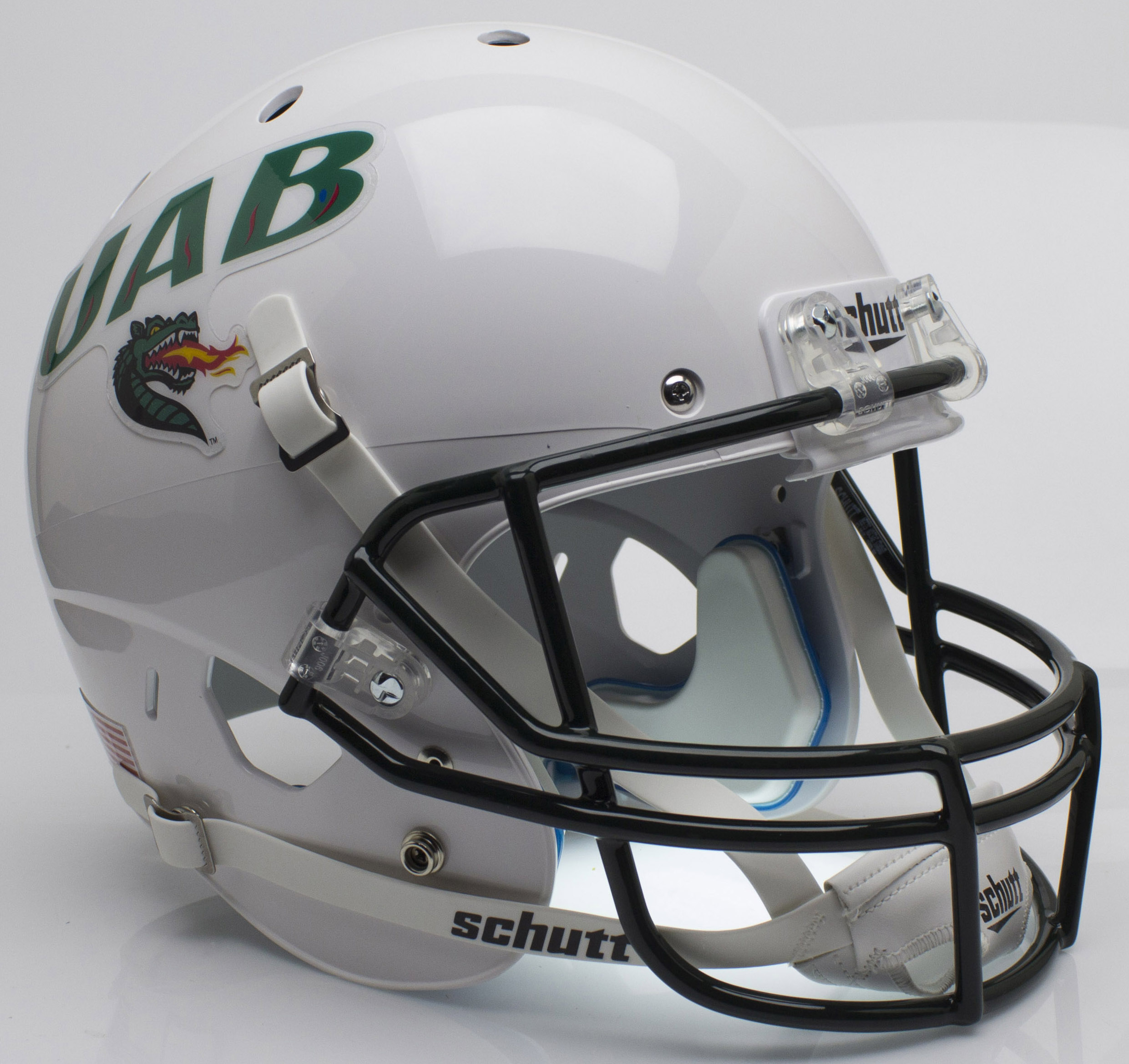 Alabama-Birmingham (UAB) Blazers Full XP Replica Football Helmet Schutt <B>White</B>