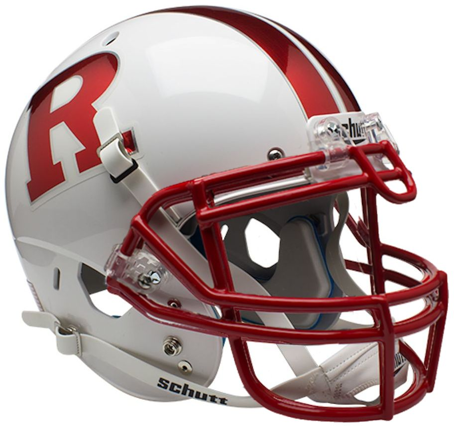 Rutgers Scarlet Knights Authentic College XP Football Helmet Schutt <B>Chrome R</B>
