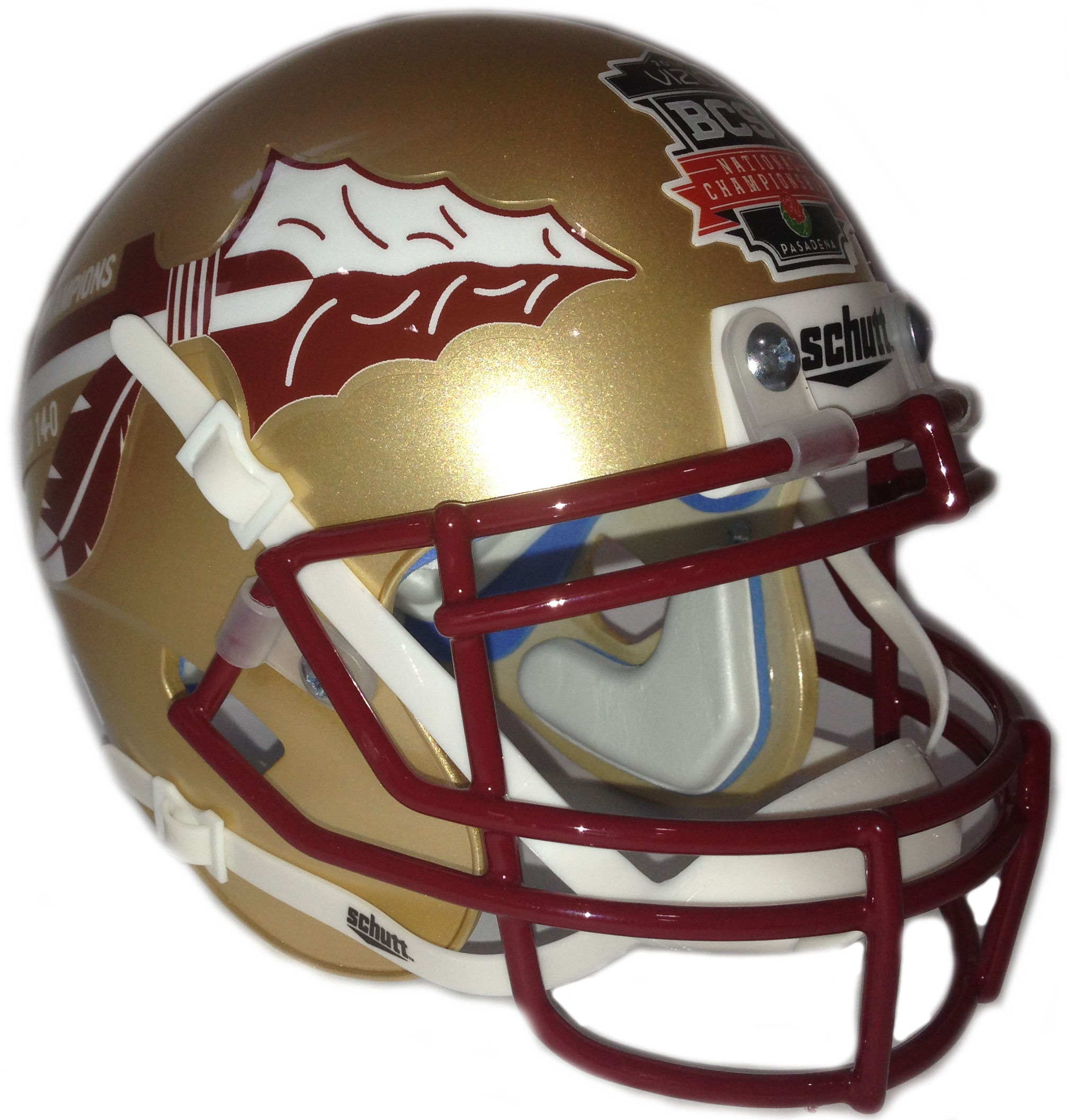 Florida State Seminoles 2013 BCS National Champions Replica Football Helmet Schutt