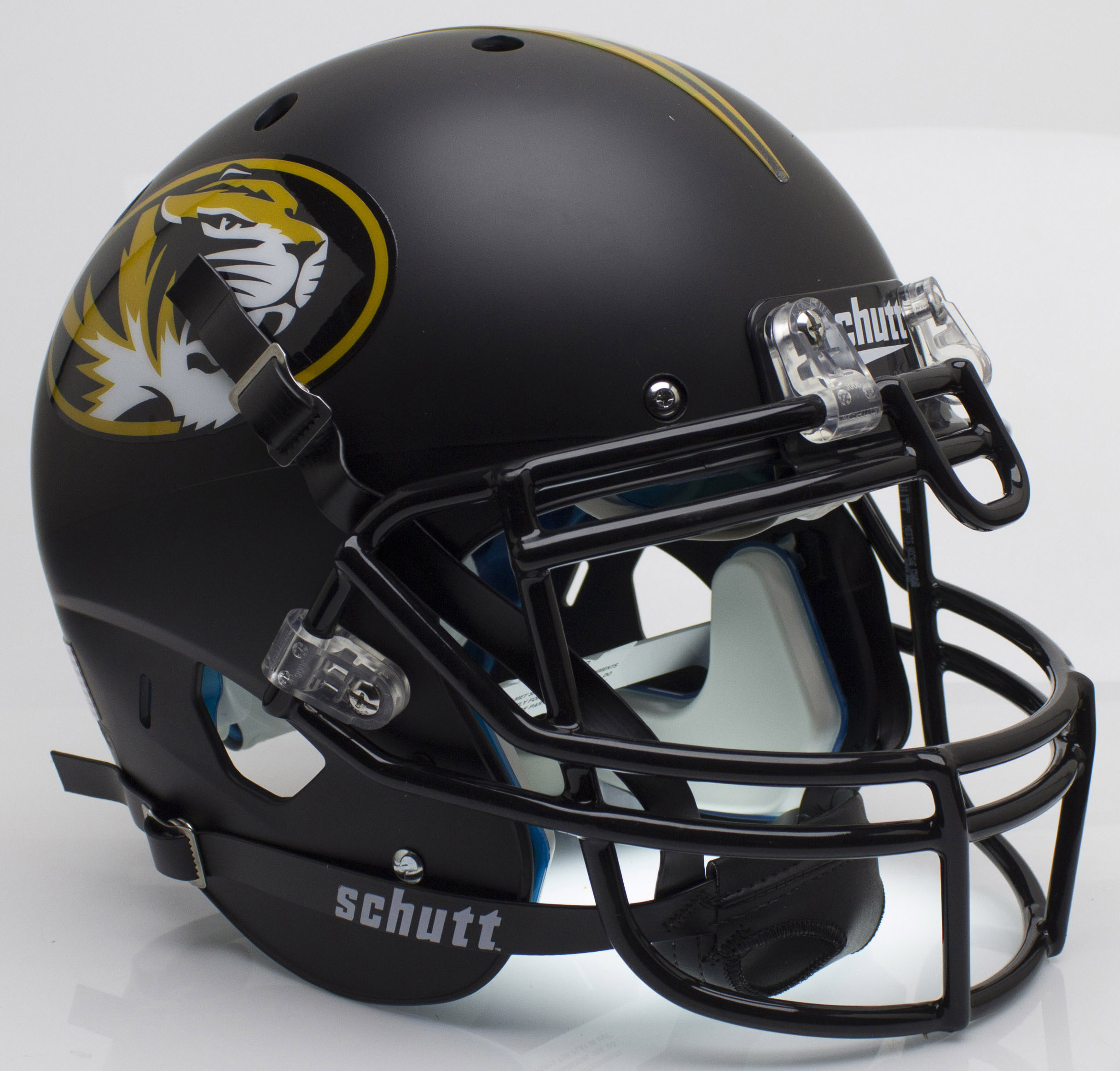 Missouri Tigers Authentic College XP Football Helmet Schutt <B>Matte Black</B>