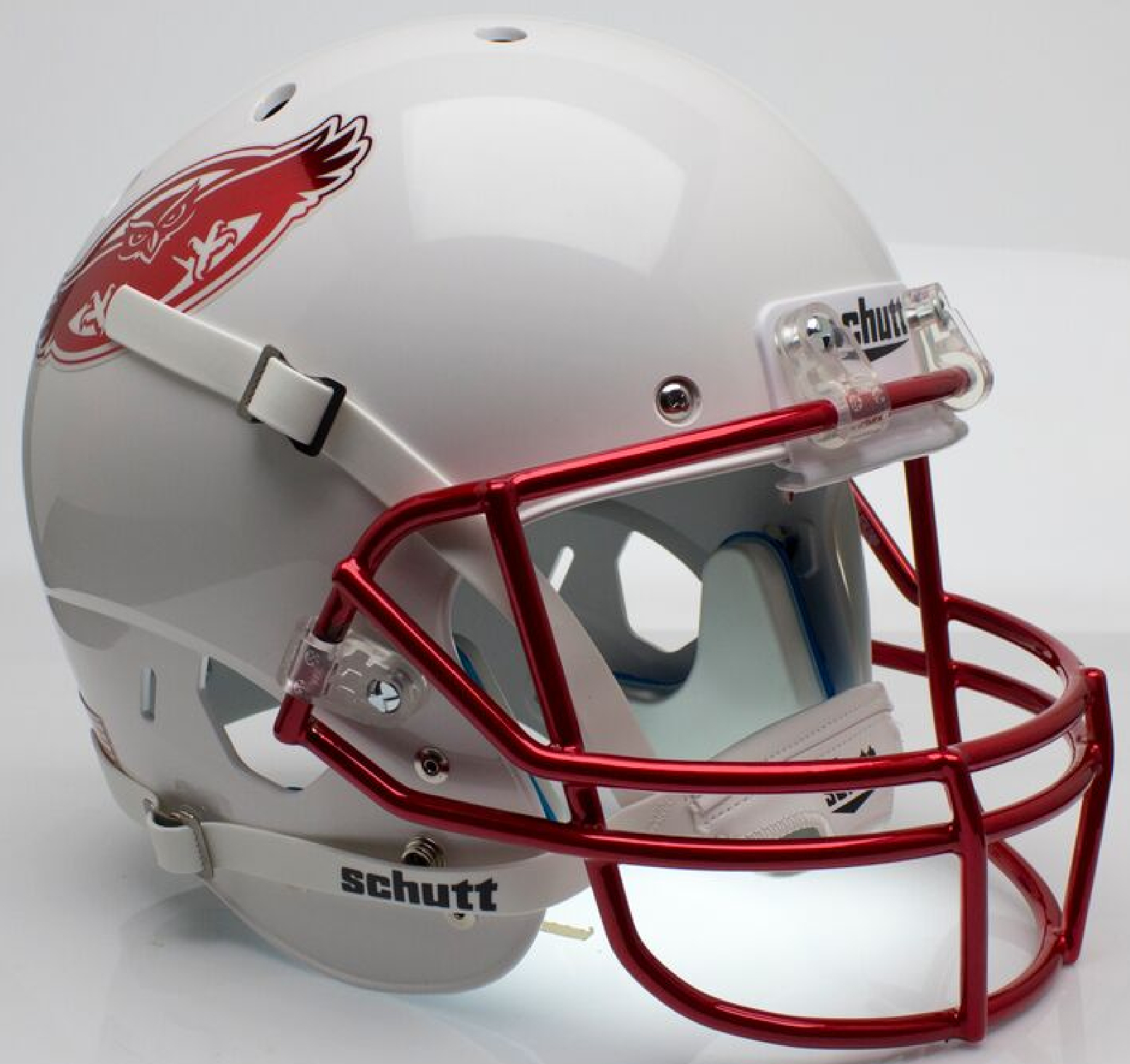 Florida Atlantic Owls Full XP Replica Football Helmet Schutt <B>Chrome Decal</B>