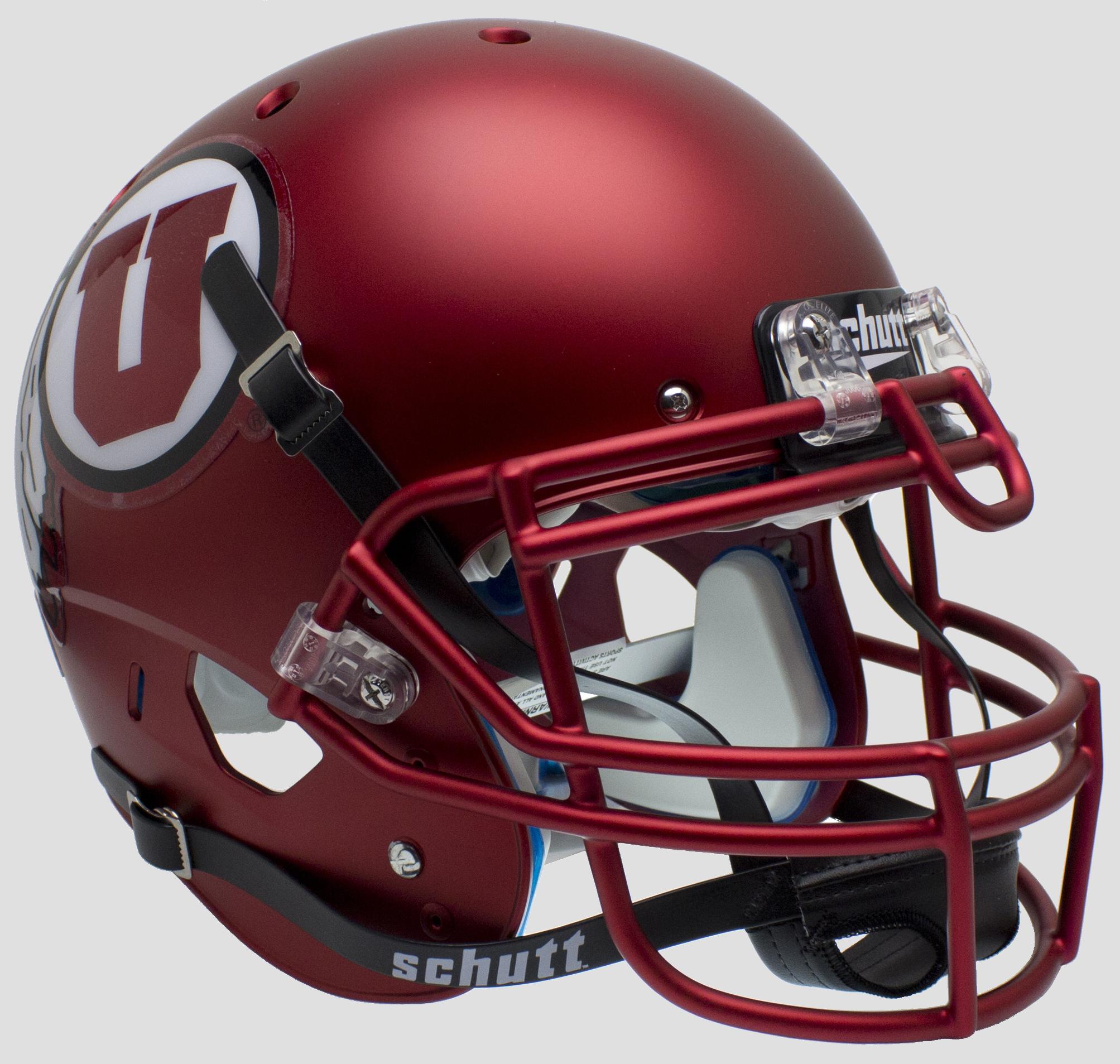 Utah Utes Authentic College XP Football Helmet Schutt <B>Satin Red<B>