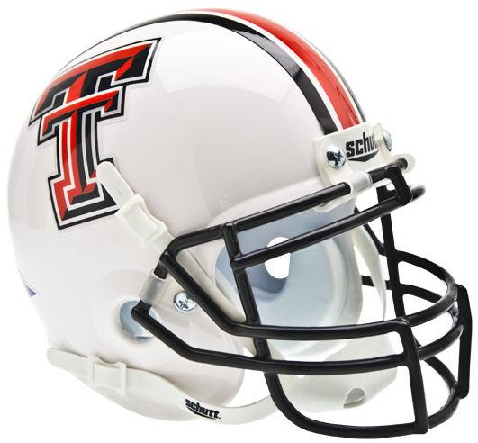 Texas Tech Red Raiders Mini XP Authentic Helmet Schutt <B>White</B>