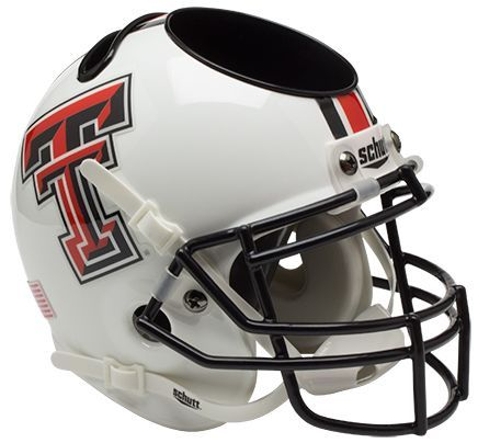 Texas Tech Red Raiders Miniature Football Helmet Desk Caddy <B>White</B>