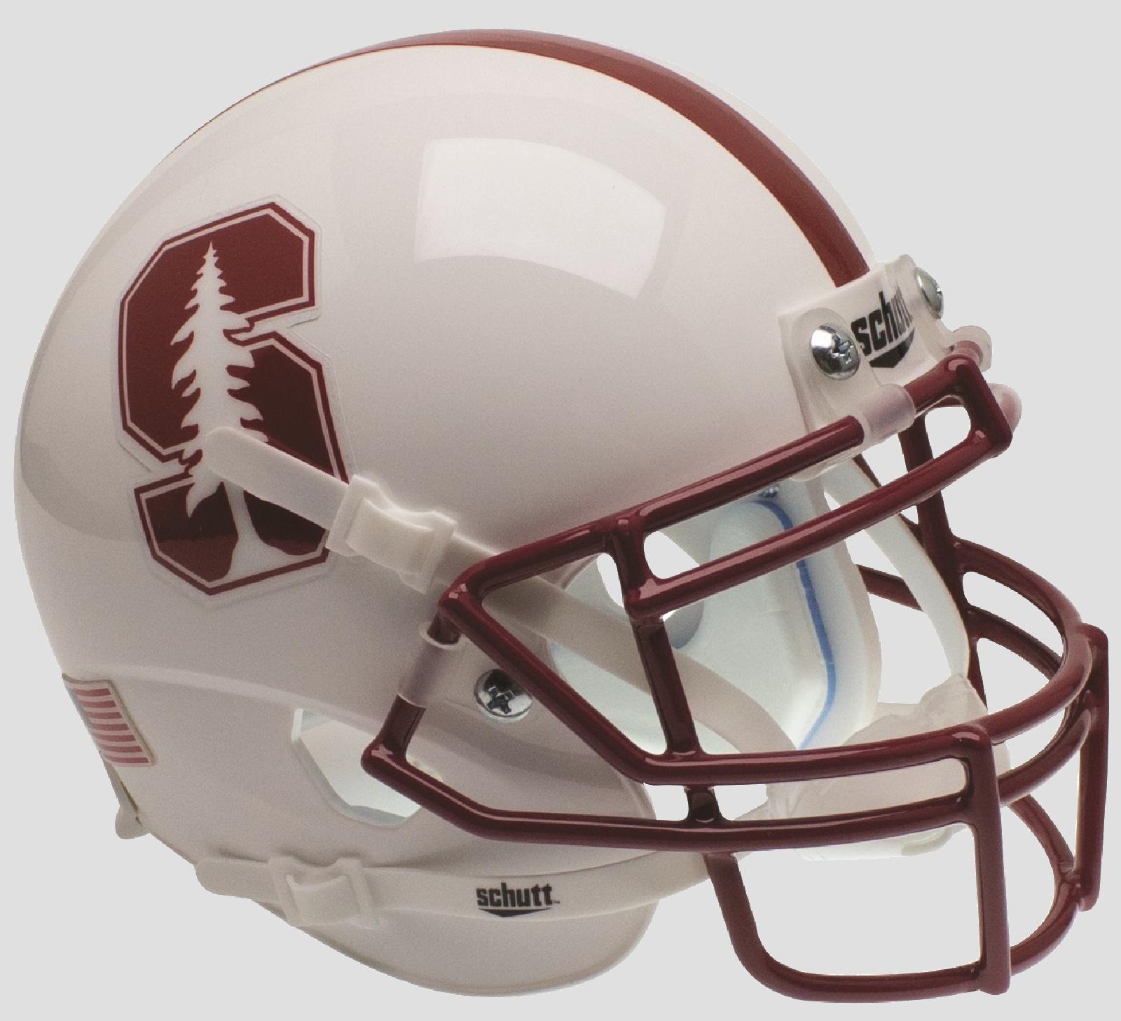 Stanford Cardinal Mini XP Authentic Helmet Schutt <B>White with Tree</B>