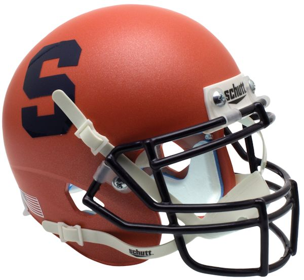 Syracuse Orangemen Miniature Football Helmet Desk Caddy <B>Satin Orange</B>