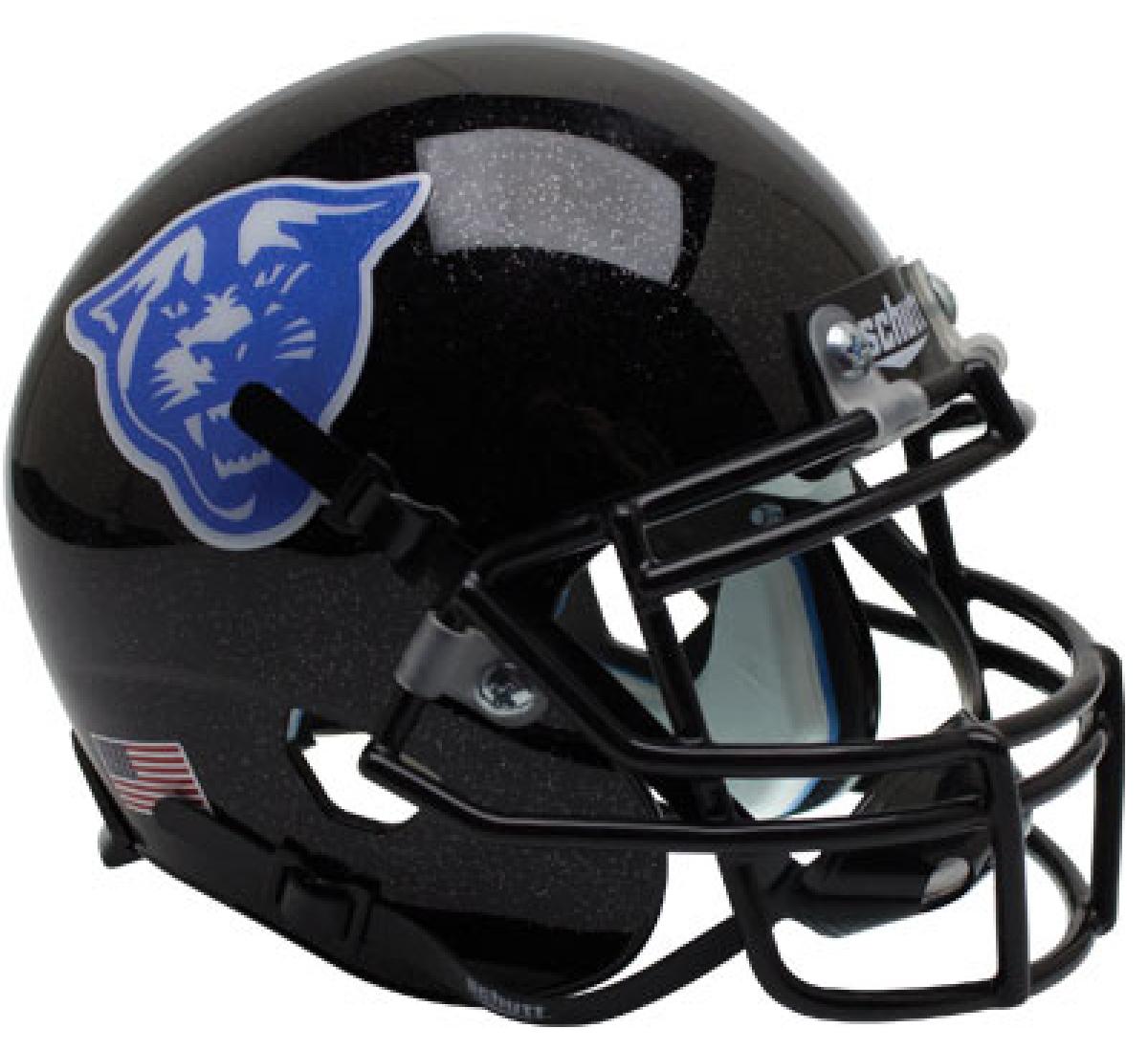 Georgia State Panthers Full XP Replica Football Helmet Schutt <B>Black</B>