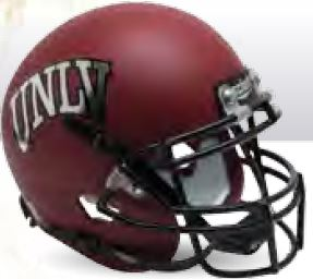 UNLV Runnin Rebels Authentic College XP Football Helmet Schutt <B>Matte Red</B>