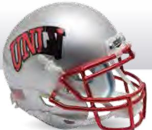 UNLV Runnin Rebels Mini XP Authentic Helmet Schutt <B>Chrome Mask</B>