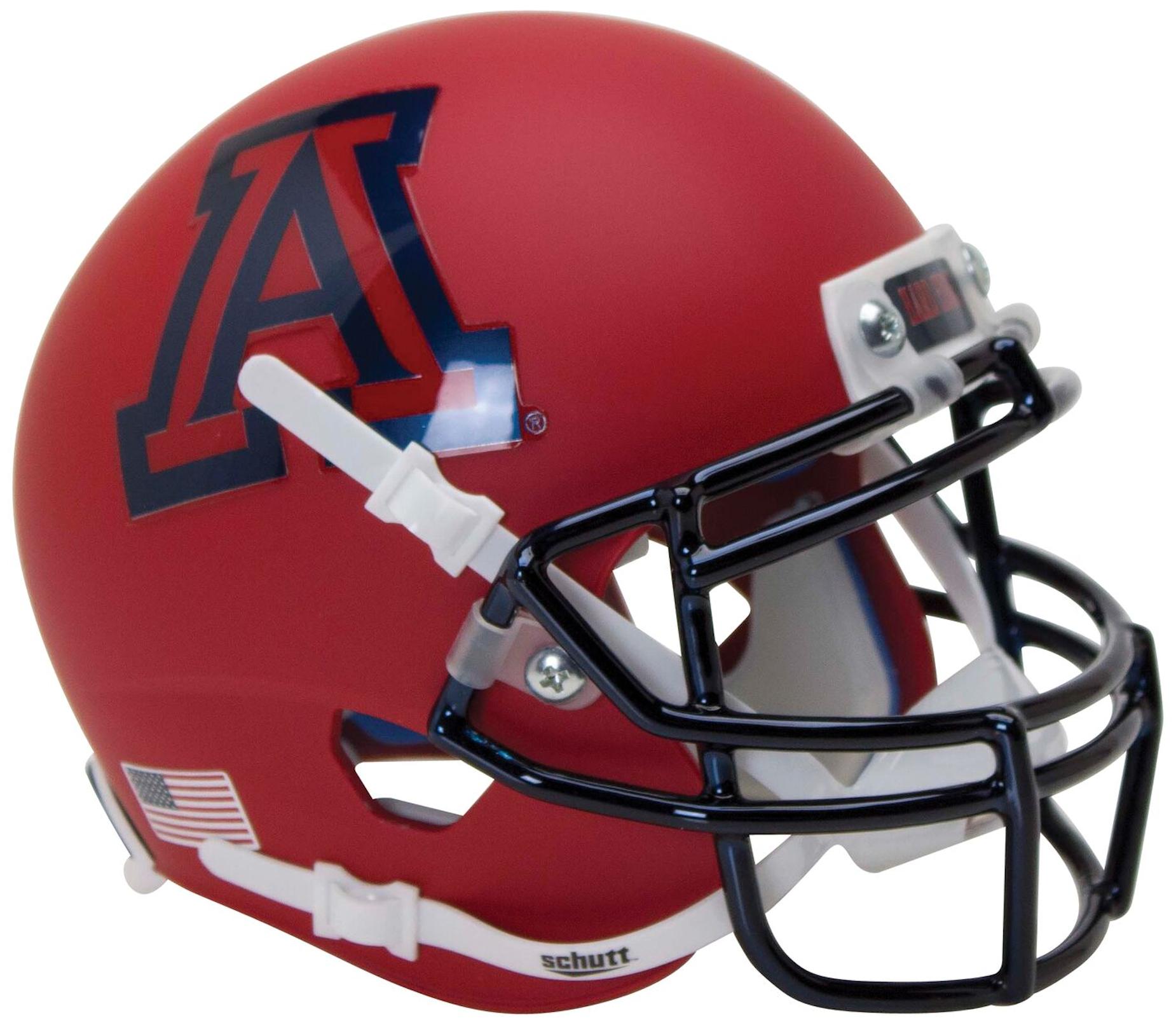 Arizona Wildcats Authentic College XP Football Helmet Schutt <B>Matte Scarlet</B>