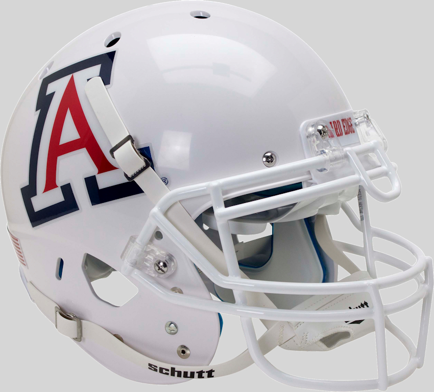 Arizona Wildcats Authentic College XP Football Helmet Schutt <B>White with Chrome Decal</B>