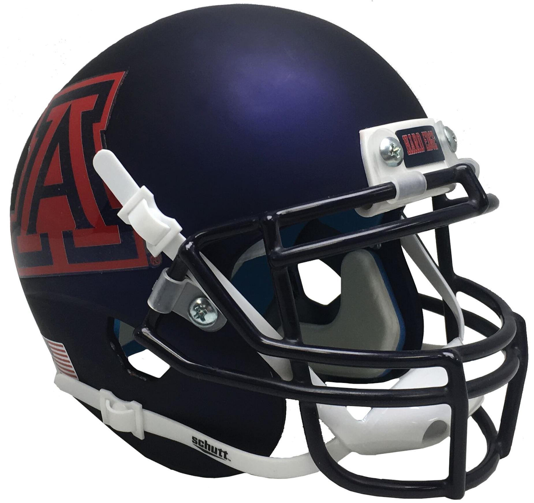 Arizona Wildcats Authentic College XP Football Helmet Schutt <B>Satin Navy</B>