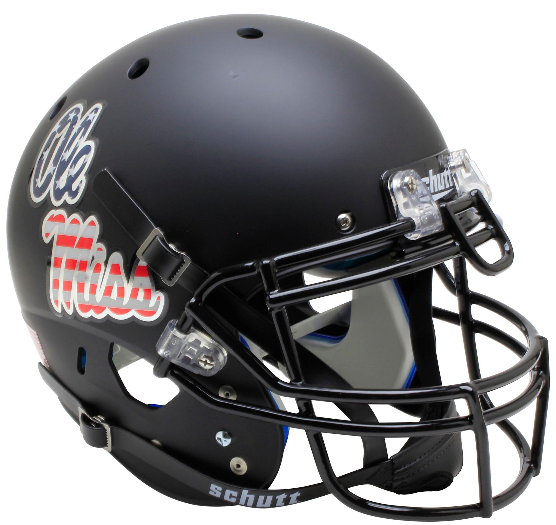 Mississippi (Ole Miss) Rebels Authentic College XP Football Helmet Schutt <B>Patriot Decal</B>