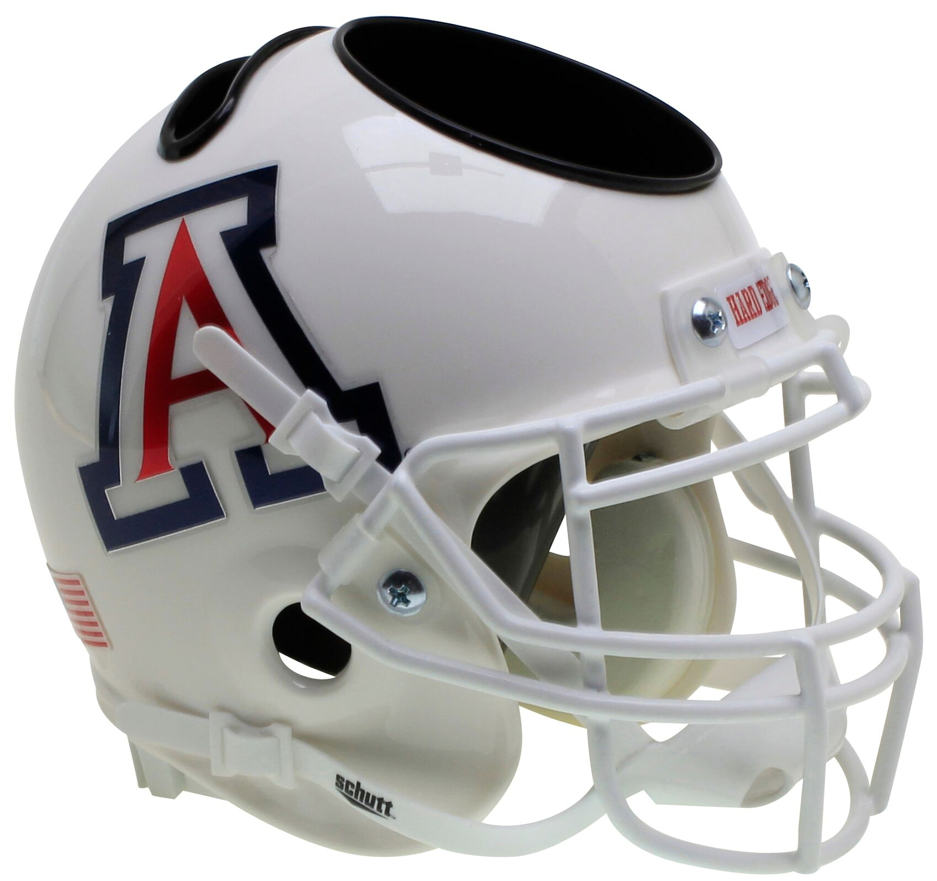 Arizona Wildcats Miniature Football Helmet Desk Caddy <B>White</B>