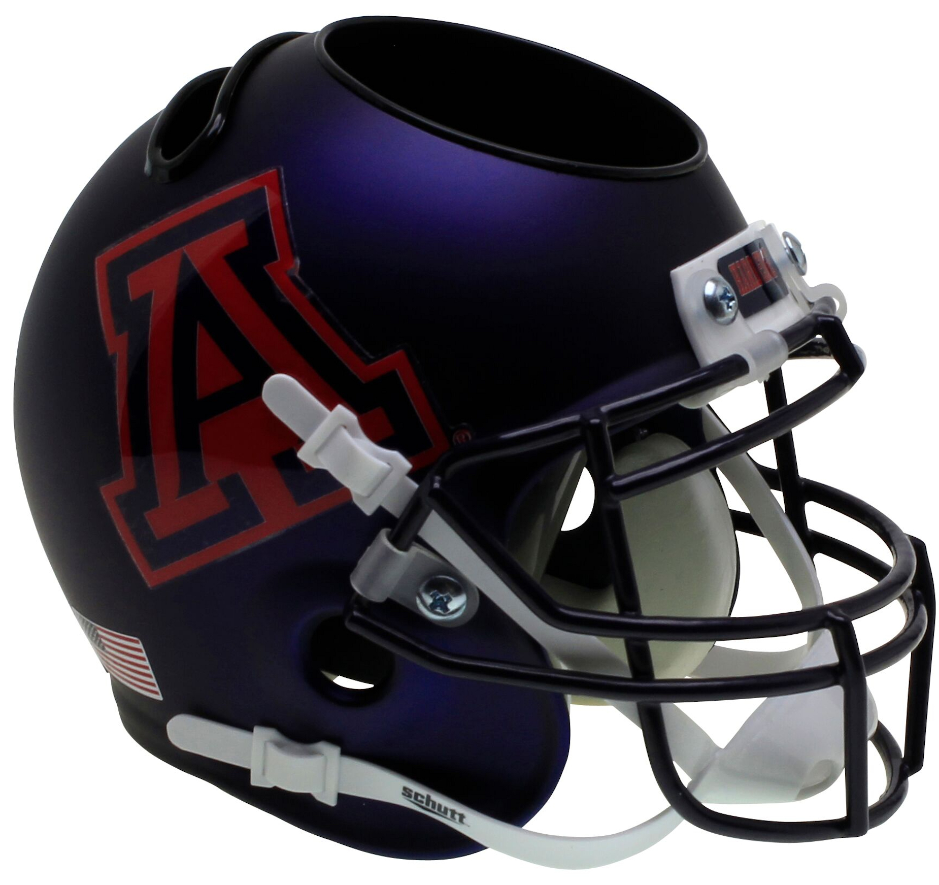 Arizona Wildcats Miniature Football Helmet Desk Caddy <B>Satin Navy</B>