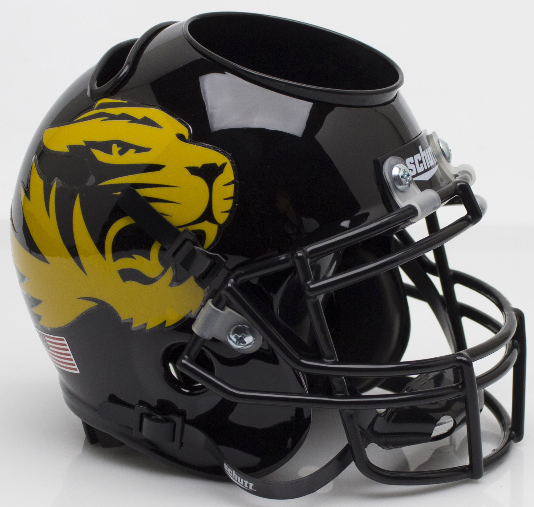 Missouri Tigers Miniature Football Helmet Desk Caddy <B>Large Tiger Alt 4</B>