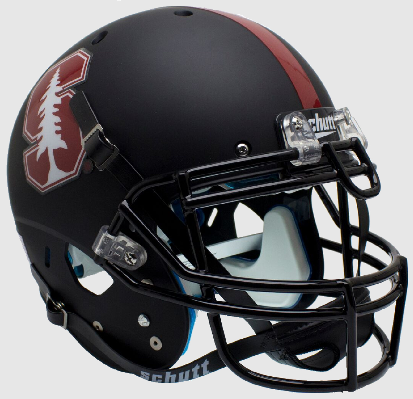 Stanford Cardinal Authentic College XP Football Helmet Schutt <B>Matte Black Tree</B>
