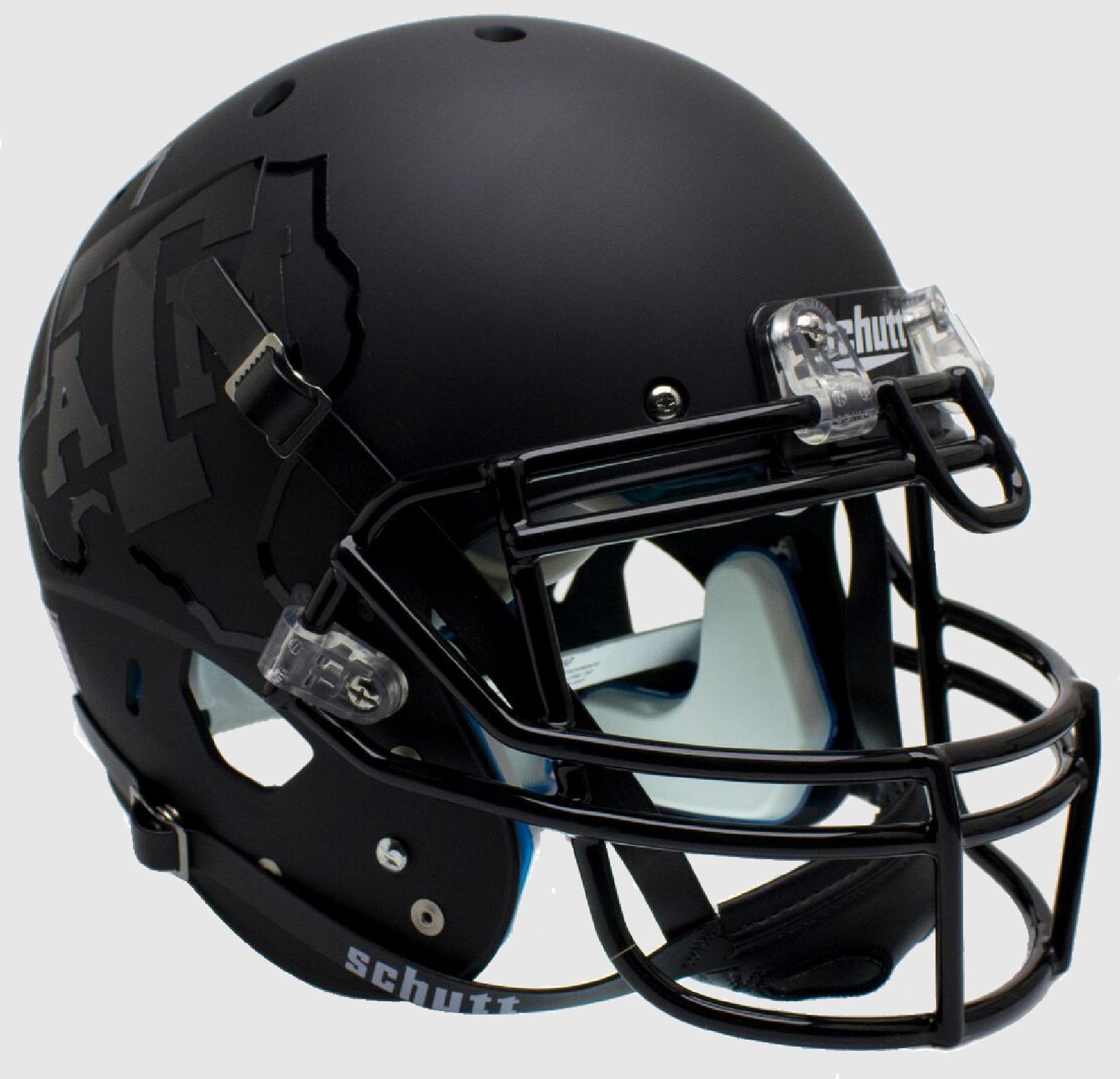 Texas A&M Aggies Authentic College XP Football Helmet Schutt <B>2015 Matte Black</B>