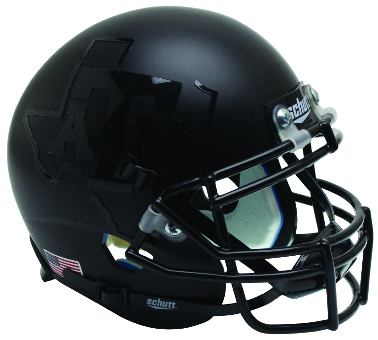 Texas A&M Aggies Full XP Replica Football Helmet Schutt <B>2015 Matte Black</B>