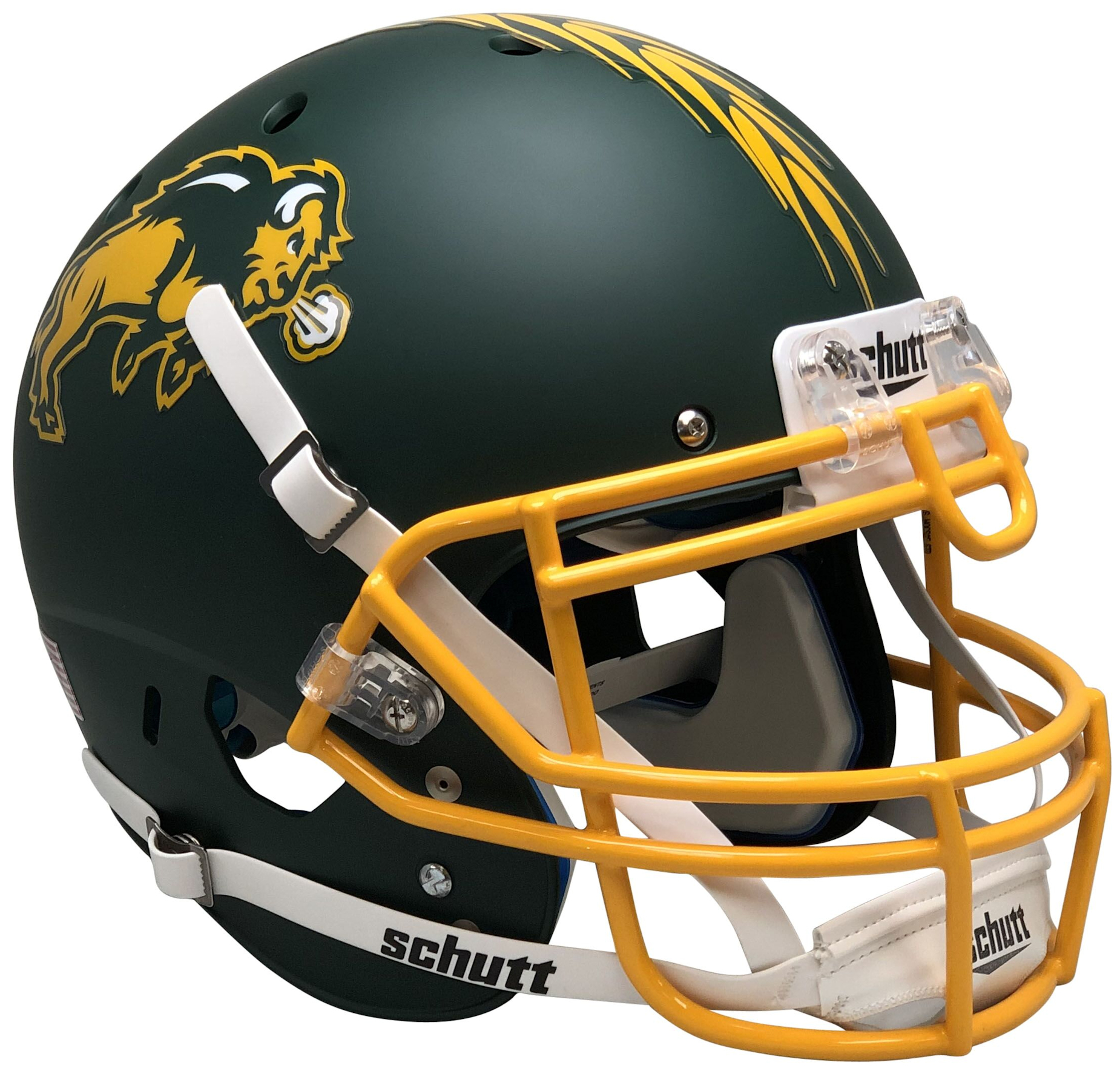North Dakota State Bison Authentic College XP Football Helmet Schutt <B>Matte Green</B>