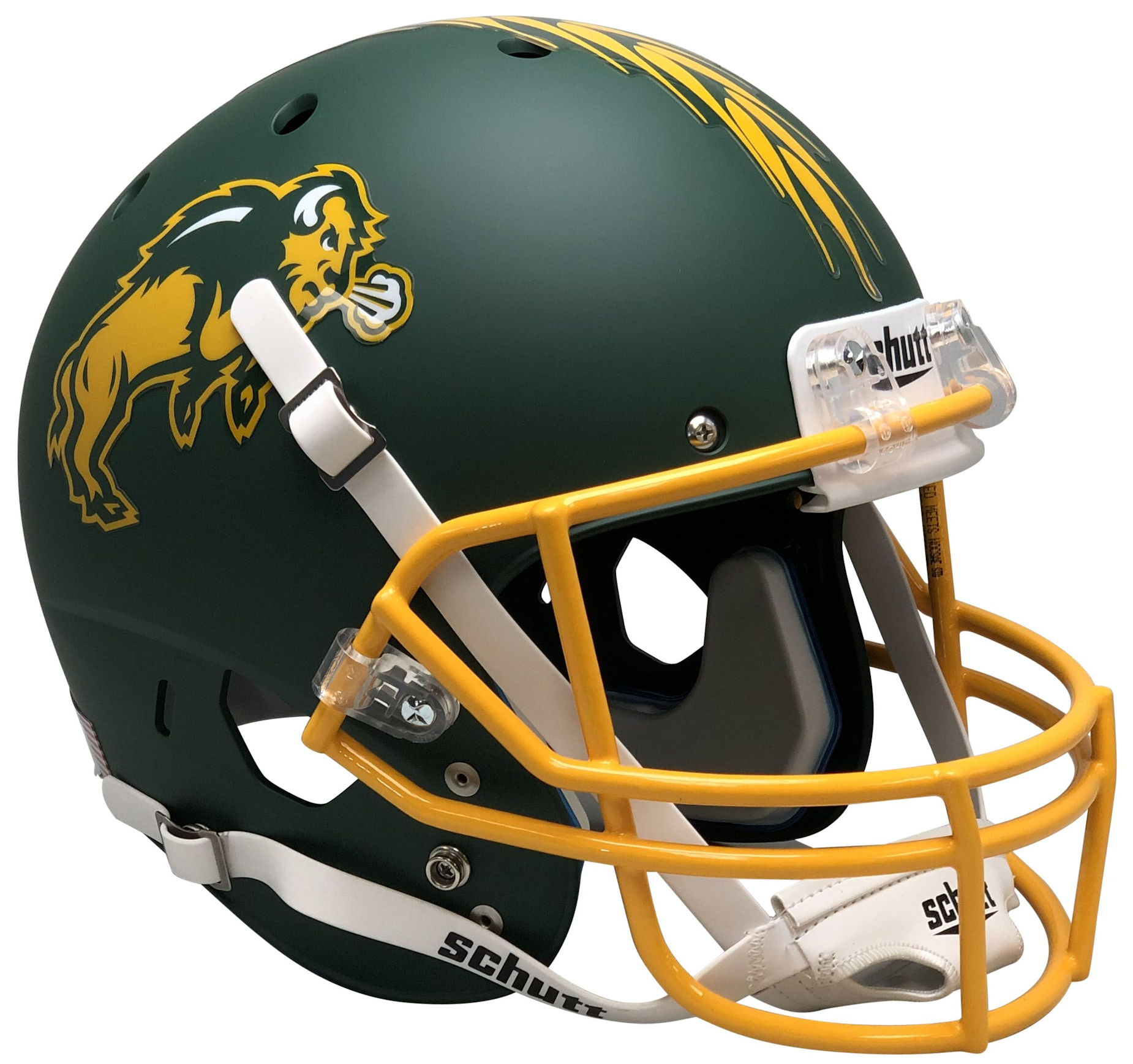 North Dakota State Bison Full XP Replica Football Helmet Schutt <B>Matte Green</B>