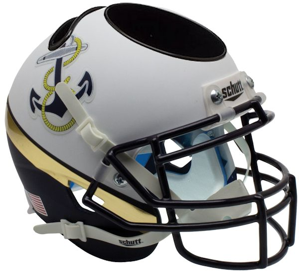 Navy Midshipmen Miniature Football Helmet Desk Caddy <B>2012 Special</B>