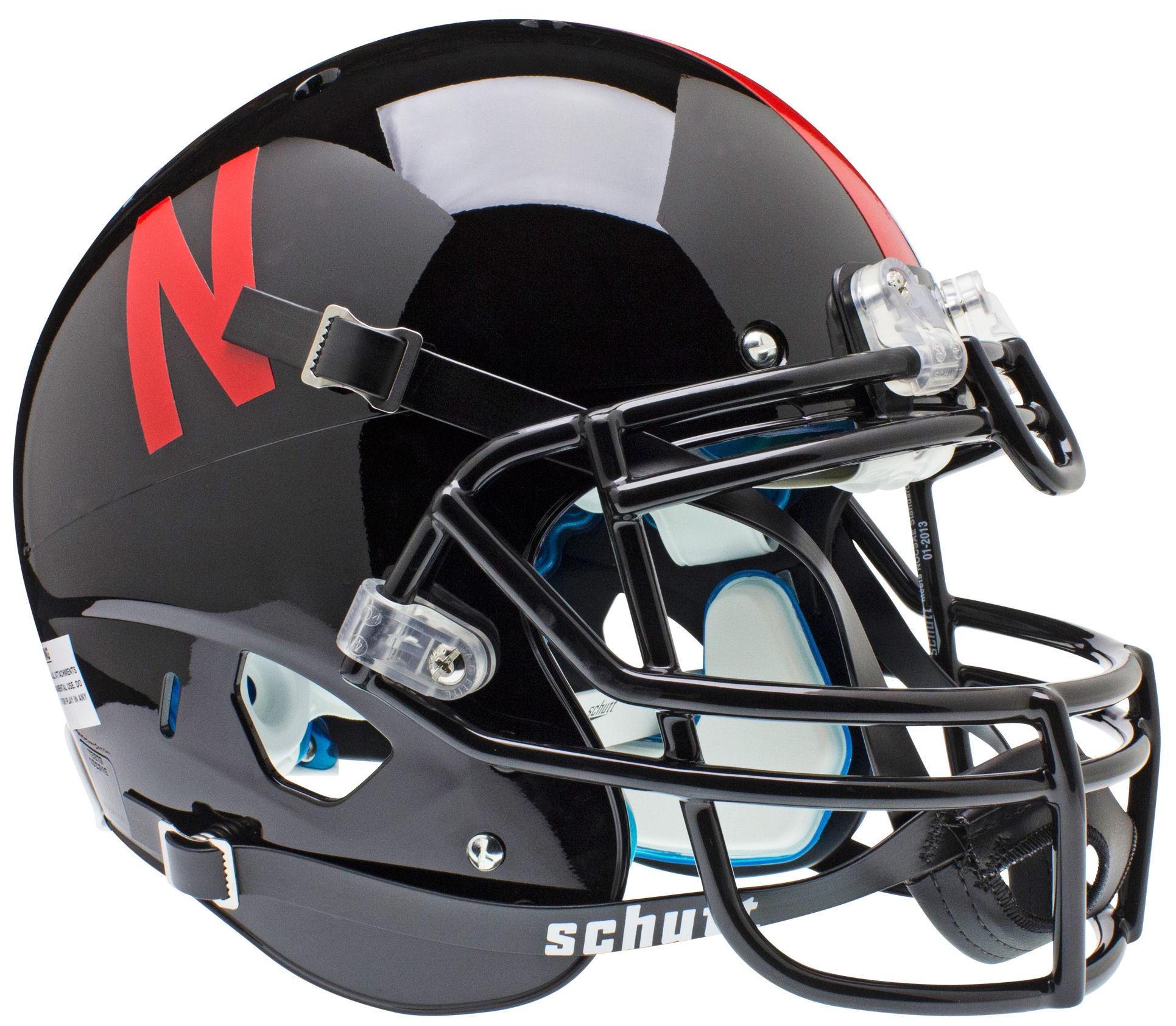 Nebraska Cornhuskers Authentic College XP Football Helmet Schutt <B>Black</B>