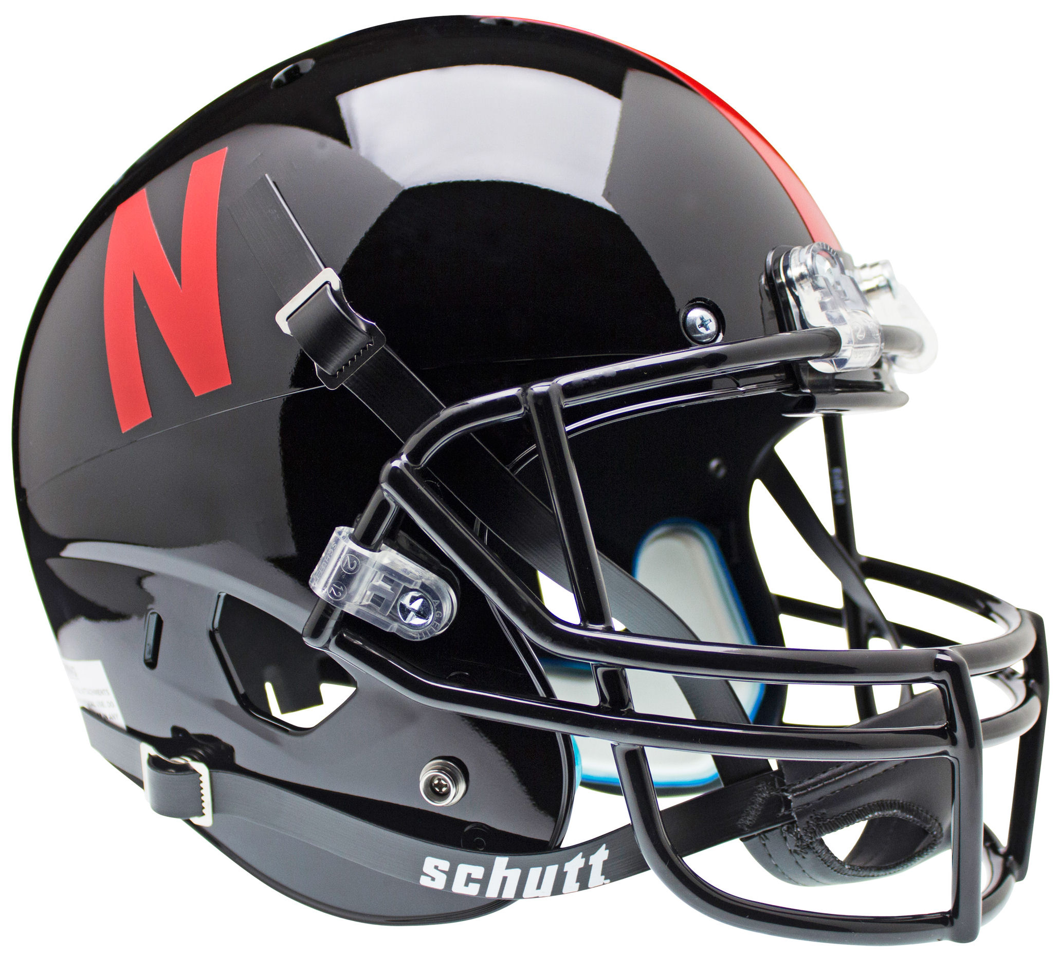 Nebraska Cornhuskers Full XP Replica Football Helmet Schutt <B>Black</B>