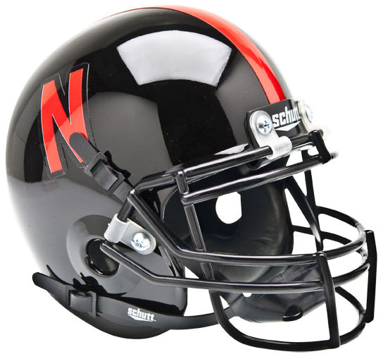 Nebraska Cornhuskers Mini XP Authentic Helmet Schutt <B>Black</B>