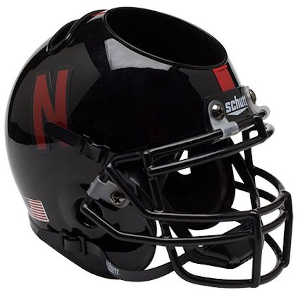 Nebraska Cornhuskers Miniature Football Helmet Desk Caddy <B>Black</B>