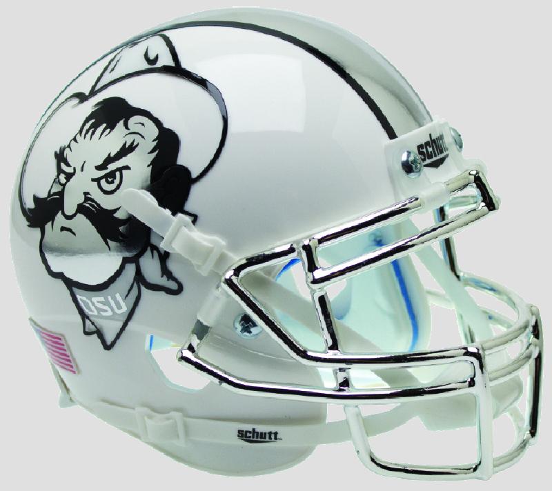 Oklahoma State Cowboys Mini XP Authentic Helmet Schutt <B>Icy Pistol Pete</B>