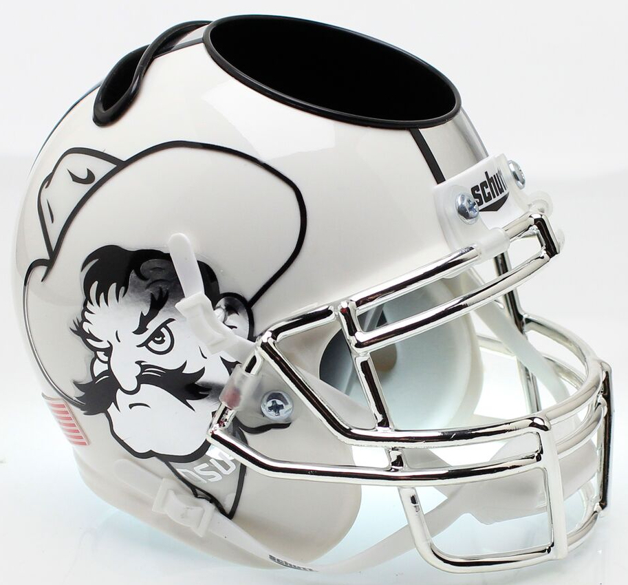Oklahoma State Cowboys Miniature Football Helmet Desk Caddy <B>Icy Pistol Pete</B>