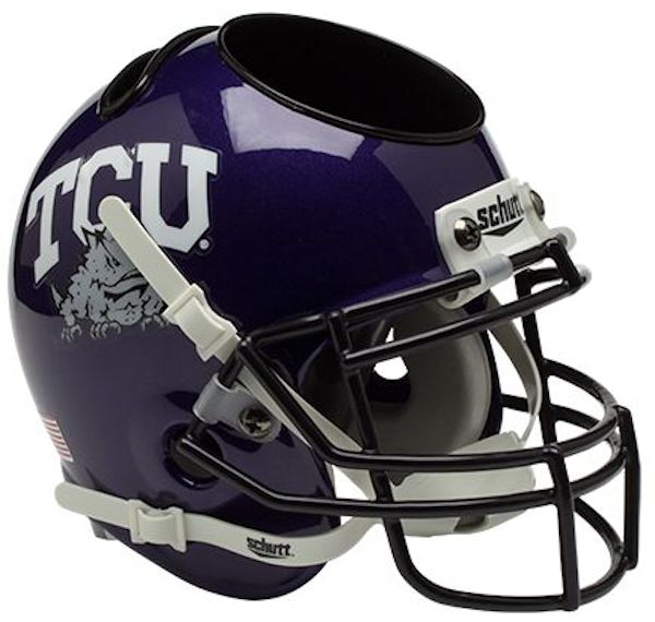 TCU Horned Frogs Miniature Football Helmet Desk Caddy