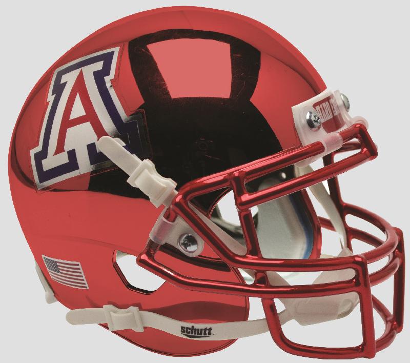 Arizona Wildcats Full XP Replica Football Helmet Schutt <B>Chrome</B>